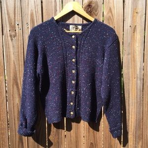 Sweaters - Vintage | navy blue speckled cardigan